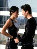 Keanu Reeves and Carrie-Anne Moss