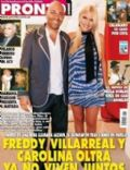 Carolina Oltra, Fredy Villarreal on the cover of Pronto (Argentina) - July 2010