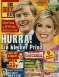 King Willem-Alexander, Princess Máxima of the Netherlands on the cover of Das Goldene Blatt (Germany) - June 2014
