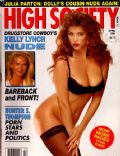 Julia Parton on the cover of High Society (United States) - April 1991