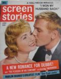 Debbie Reynolds, Tab Hunter, Tab Hunter and Debbie Reynolds on the cover of Screen Stories (United States) - June 1961