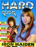 Bruce Dickinson on the cover of Hard Rock Magazine (France) - April 1985