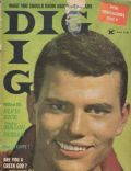 Patrick Wayne on the cover of Dig (United States) - March 1959