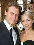 Bec Cartwright and Lleyton Hewitt
