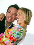 David Faustino and Andrea Elmer