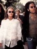 Lenny Kravitz and Vanessa Paradis