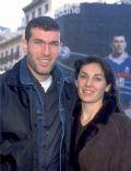 Zinedine Zidane and Veronique Zidane