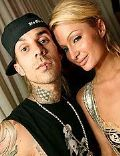 Travis Barker and Paris Hilton