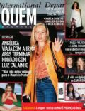Angélica, Carla Diaz, Carolina Ferraz, Luana Piovani, Luana Piovani and Paulinho Vilhena, Maitê Proença, Paulo Vilhena on the cover of Quem (Brazil) - May 2002