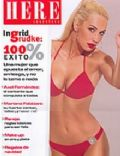 Ingrid Grudke on the cover of Here (Argentina) - December 2004