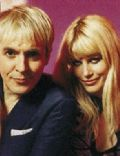 Nick Rhodes and Meredith Ostrom