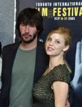 Kelli Garner and Keanu Reeves