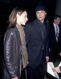 Claire Forlani and Brad Pitt