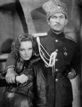 Victor McLaglen and Marlene Dietrich