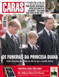 Prince Charles, Prince Harry Windsor, Prince William Windsor, Vera Fischer on the cover of Caras (Brazil) - September 1997