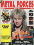 Joe Elliott on the cover of Metal Forces (United States) - March 1992