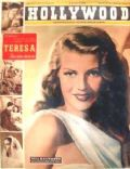 Rita Hayworth on the cover of Hollywood (Italy) - May 1951