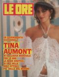 Tina Aumont on the cover of Le Ore (Italy) - January 1986