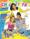 Agustina Cherri, Camila Bordonaba, Nadia Di Cello on the cover of Chiquititas (Argentina) - April 2001