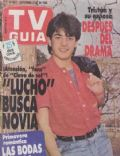 Pablo Rago on the cover of TV Guia (Argentina) - September 1988