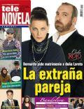 Cielo Rojo, Hernán Mendoza, Regina Torné on the cover of Tele Novela (Spain) - March 2012