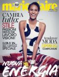 Cindy Bruna on the cover of Marie Claire (Italy) - February 2014