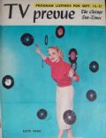 Patti Page on the cover of TV Prevue (United States) - September 1957