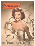Susan Hayward on the cover of Picturegoer (United Kingdom) - May 1952