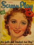 Olivia de Havilland on the cover of Screen Play (United States) - August 1936