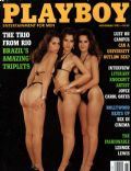 Lilian Porto, Marilise Porto, Renata Porto on the cover of Playboy (United States) - November 1993