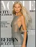 Kirsty Hume, Wayne Maser on the cover of Vogue (Germany) - October 1998