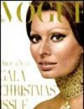 Sophia Loren on the cover of Vogue (United States) - December 1970