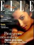 Yasmeen Ghauri on the cover of Elle (France) - April 1997