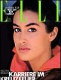 Yasmeen Ghauri on the cover of Elle (Germany) - March 1990