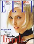 Nadja Auermann on the cover of Elle (Germany) - August 1995