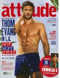 Thom Evans on the cover of Attitude (United Kingdom) - July 2014