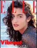 Yasmeen Ghauri on the cover of Elle (United Kingdom) - March 1990