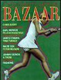 Chris Evert, Jim Hamilton on the cover of Harpers Bazaar (United States) - April 1972