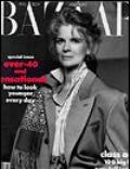 Candice Bergen, Matthew Rolston on the cover of Harpers Bazaar (United States) - August 1989
