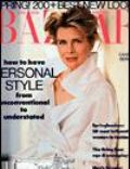 Candice Bergen, Matthew Rolston on the cover of Harpers Bazaar (United States) - March 1991