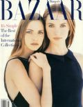 Nadja Auermann, Patrick DeMarchelier on the cover of Harpers Bazaar (United States) - March 1993
