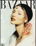 Nadja Auermann, Patrick DeMarchelier on the cover of Harpers Bazaar (United States) - April 1993