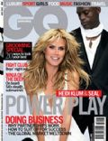 Heidi Klum, Heidi Klum and Seal, Seal on the cover of Gq (South Africa) - June 2008