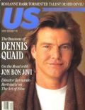 Dennis Quaid on the cover of Us Weekly (United States) - December 1990