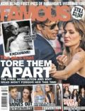 Angelina Jolie, Angelina Jolie and Brad Pitt, Brad Pitt on the cover of Famous (Australia) - August 2010