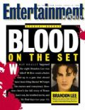 Brandon Lee on the cover of Entertainment Weekly (United States) - April 1993