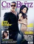 Akshay Kumar, Sonakshi Sinha on the cover of Cineblitz (India) - August 2013