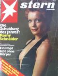 Romy Schneider on the cover of Stern (Germany) - March 1973