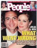 Benjamin Bratt, Benjamin Bratt and Julia Roberts, Julia Roberts on the cover of People (United States) - July 2001