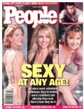 Heather Locklear, Jane Seymour, Jenna Elfman, Mark Wahlberg on the cover of People (United States) - August 2001